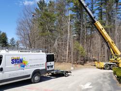 Crane Service - Sign Installation
