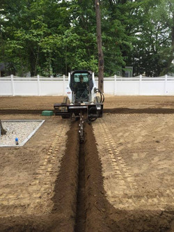 Irrigation System Trenching