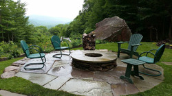 fire pit and patio