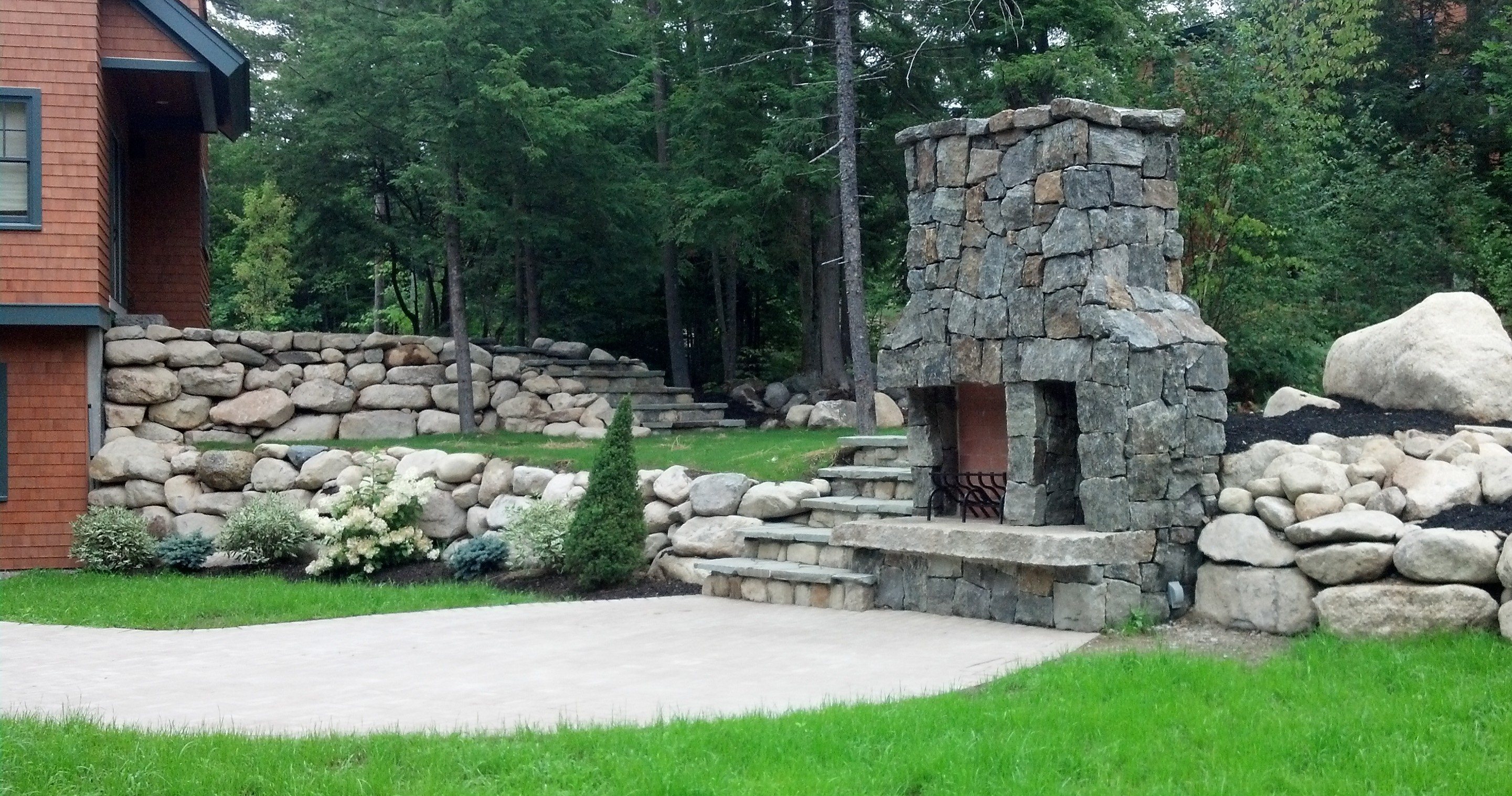 Granite Outdoor Fireplace