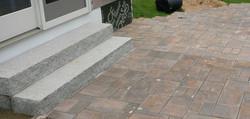 paver patio and granite steps