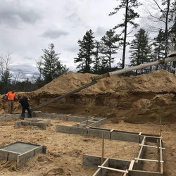Pouring Footings