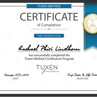 Diplom Tuxen Method Certification Progra