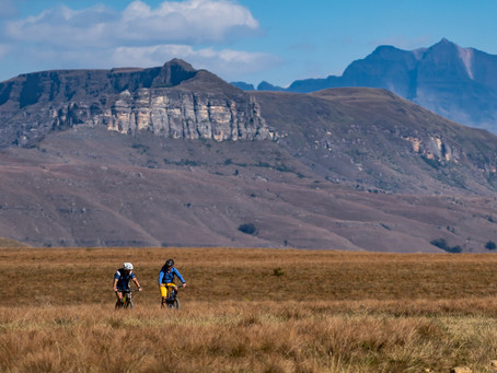 Bike touring the Mighty Drakensberg