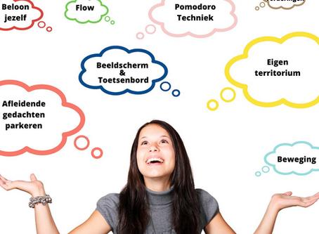 De 10 essenties voor Concentratie op de thuiswerkplek
