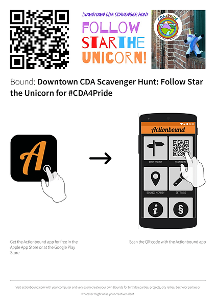 CDA4Pride Scavenger Hunt start instructi