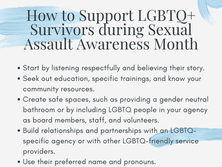 April is Sexual Assault Awareness Month. Our friends at Safe Passage are there for you!