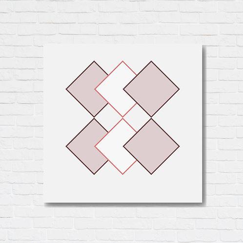 Quadro decorativo texturizado - Pink squares