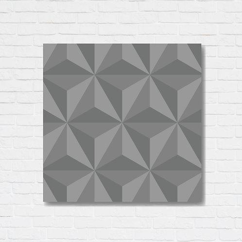 Quadro decorativo texturizado - Triângulos 3D