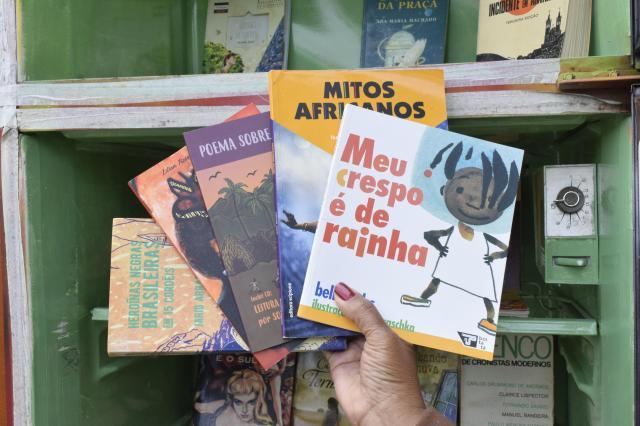 Obras que tratam da cultura da população negra são consideras preciosidades pelos organizadores Foto: Camila Bengo / Diário Gaúcho