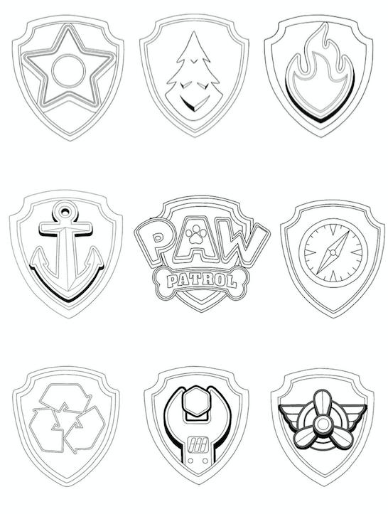 paw patrol badges