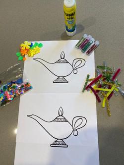 Lamp Craft Activity