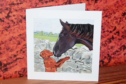 """Monty"" Greeting Card"