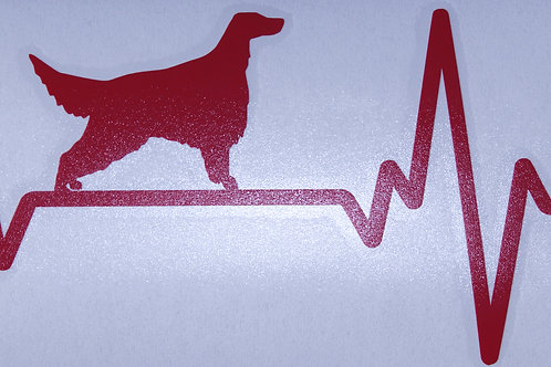 Setter Heartbeat Car Sticker (P&P included)