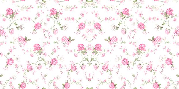 papel-de-parede-flores-delicadas-rosa-e-