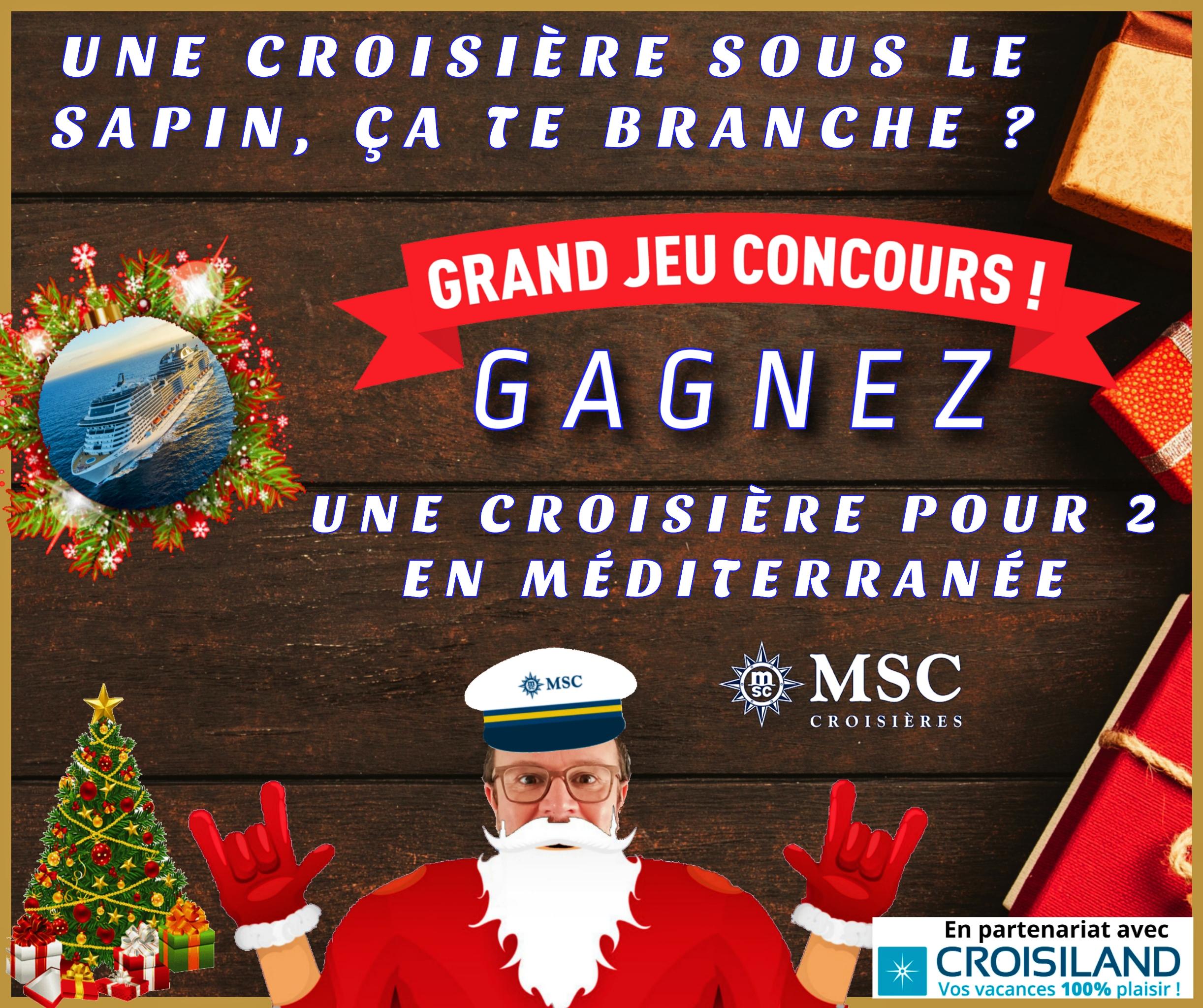 Grand jeu concours de Noël - Clic pour tenter de gagner une croisière