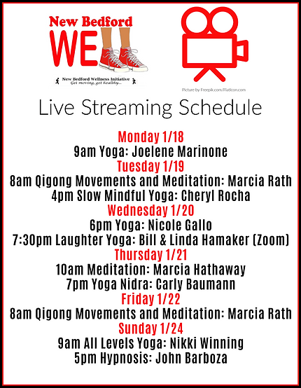 NB Well Live Streaming Schedule Jan 21-6
