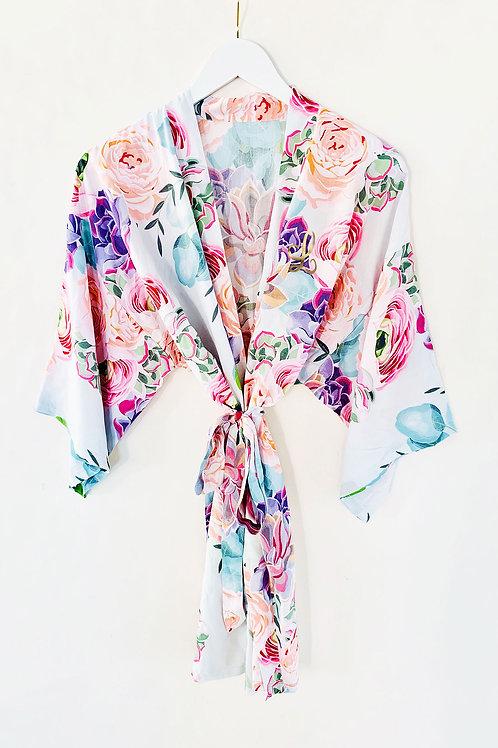 Monogram Succulent Cotton Robe