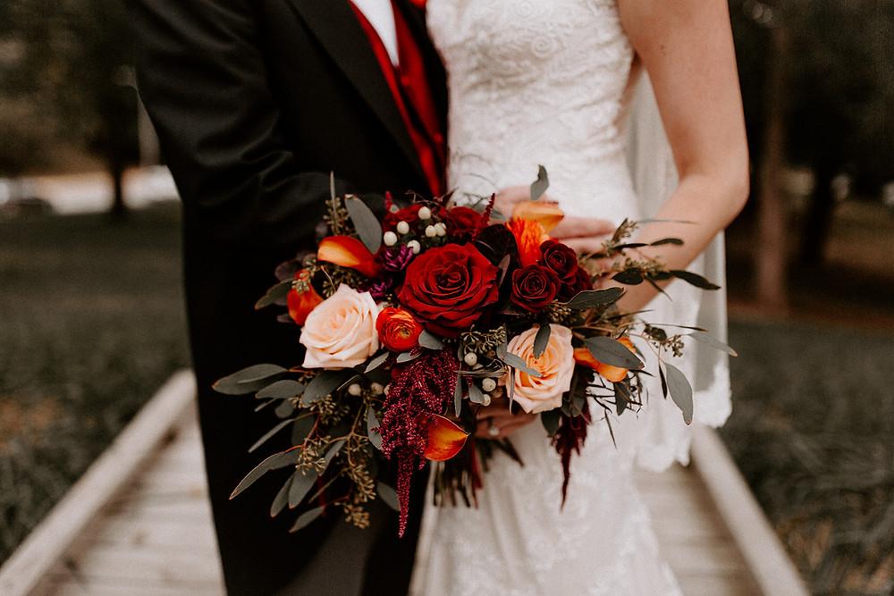 Purdue University Fall Wedding Bouquet