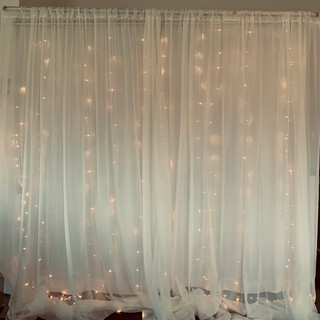 Double Layer Solid and Sheer Backdrop