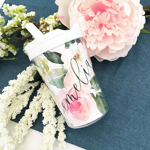 Floral Sippy Cup