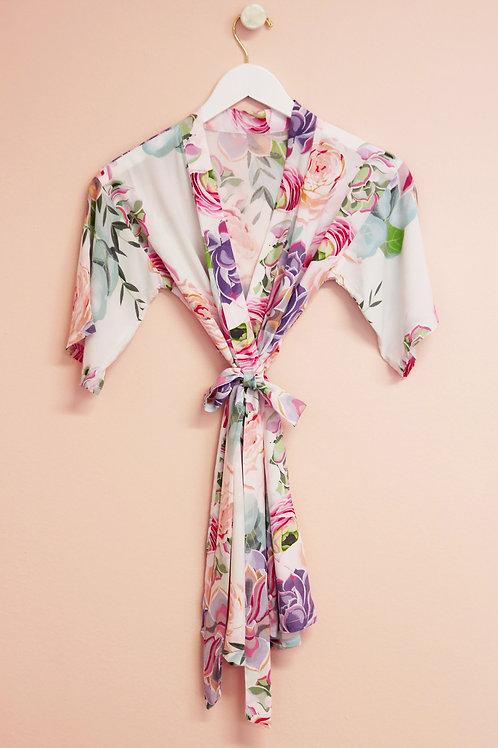 Flower Girl Monogram Robe