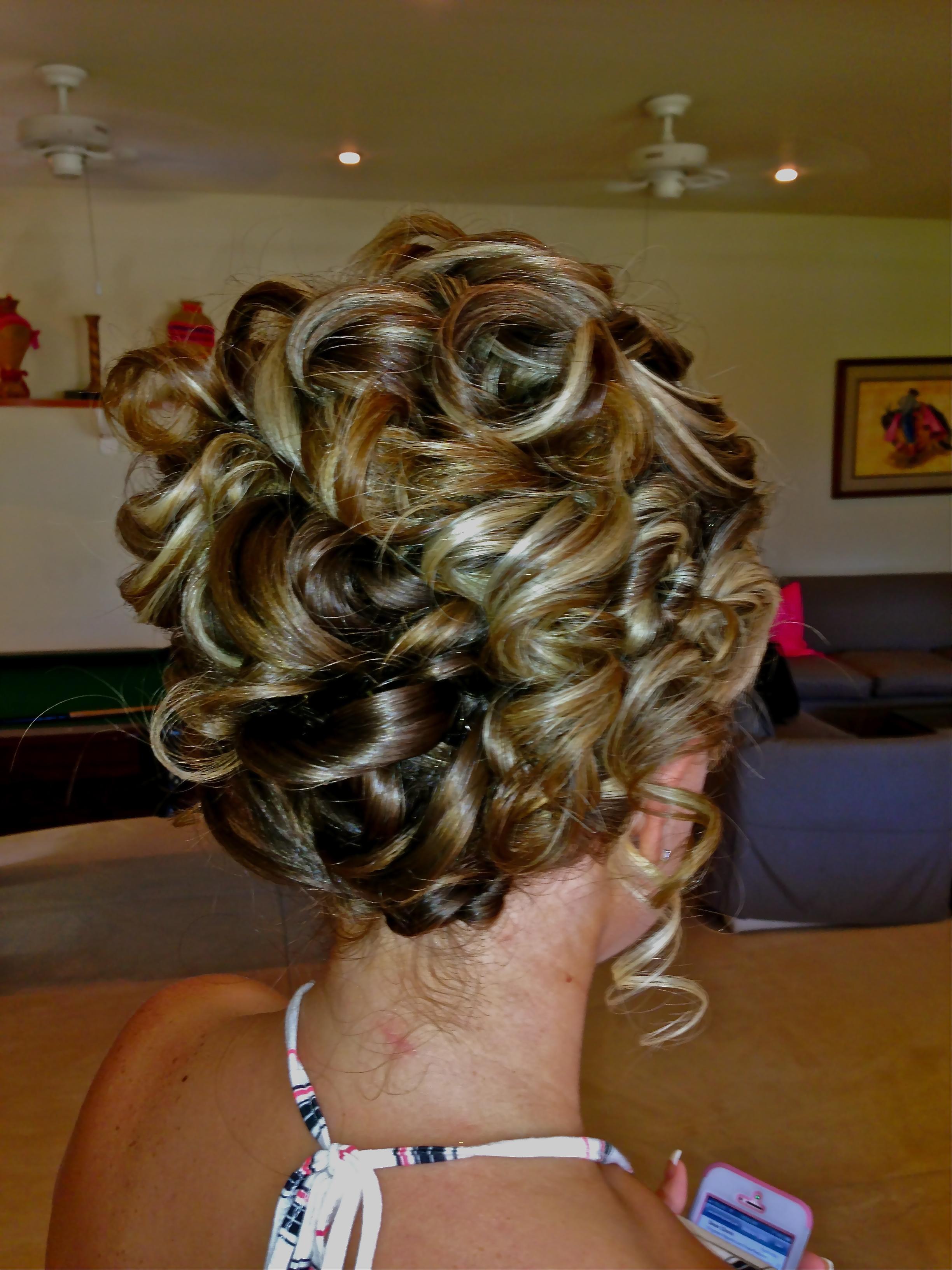 Piled high curls