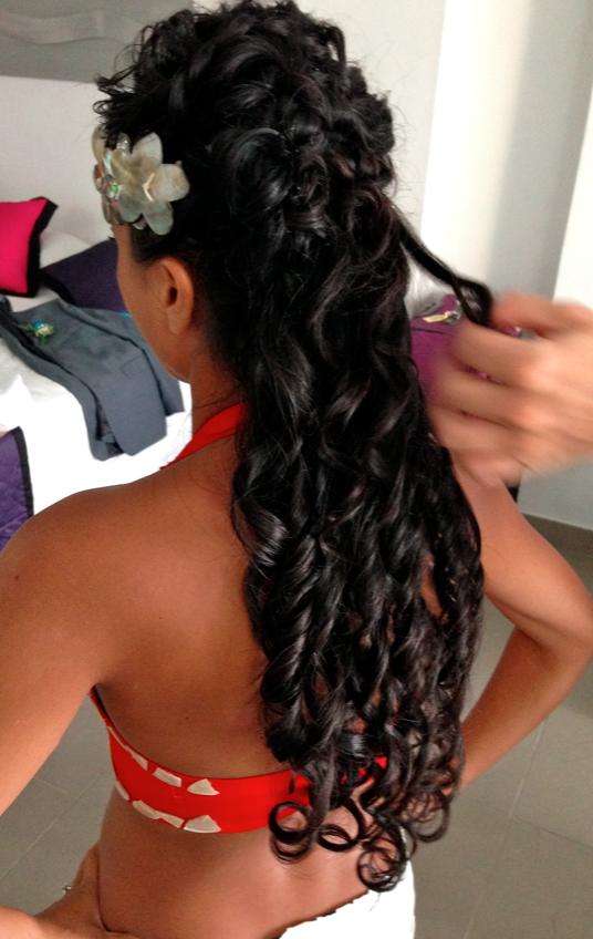 Bridal reception hair and makeup