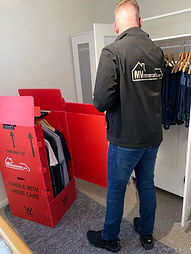 mvremovals.com Wardrobe Cartons In Use.J