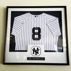 Instagram - Yogi Berra jersey framed in shadowbox
