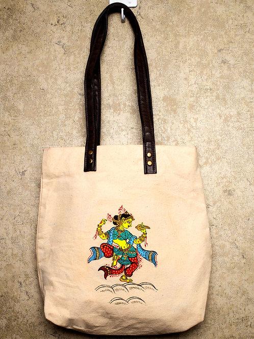 Handpainted Shoulder Mutltipurpose Bag Indian Pattachitra Dancer
