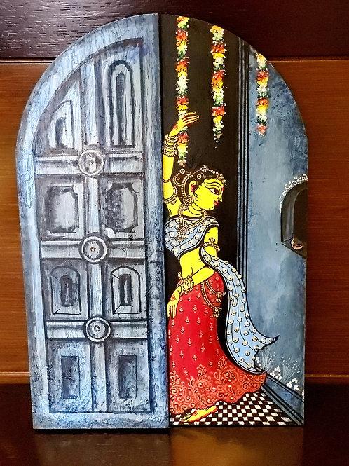 Handpainted Pattachitra walldecor 'The endless wait'