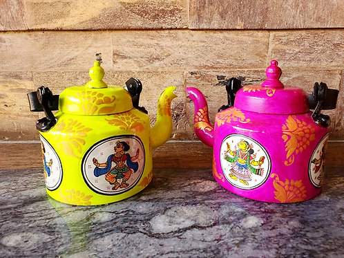 Set of 2 : Handpainted Banarasi Teapots