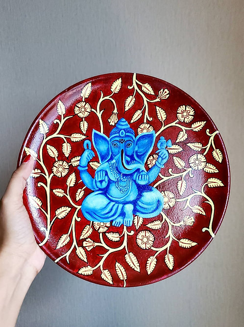 Kalamkari Ganesh Wall Plate