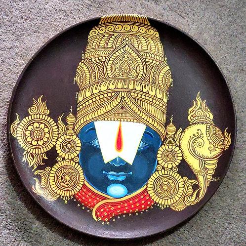 Balaji Handpainted Indian traditional wall plate