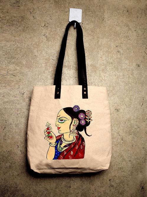 Handpainted Shoulder Mutltipurpose BagBoho Woman