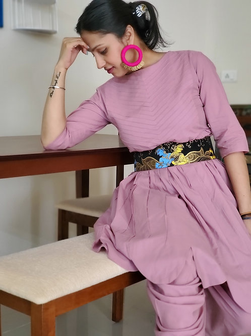 Handpainted Silk Belt with Radha Krishna  in corset style