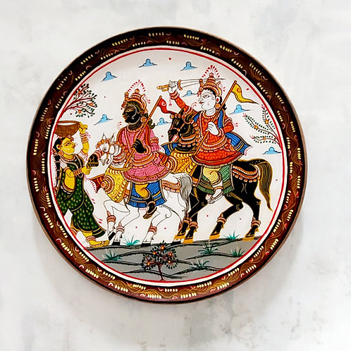 Kaanchi Abhijaan Handpainted Indian traditional wall plate