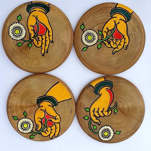 Mudra Coasters