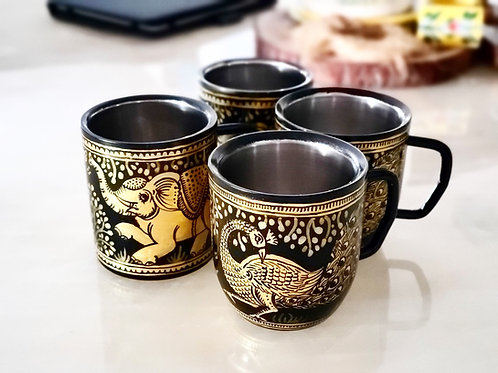 Handpainted Coffee Mugs Set of 2