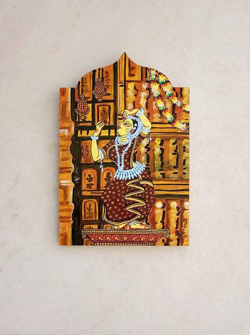 Beautiful Odissi Dancer Wooden Wall Art