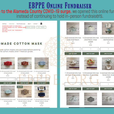 Opened Online Cotton Mask Fundraiser