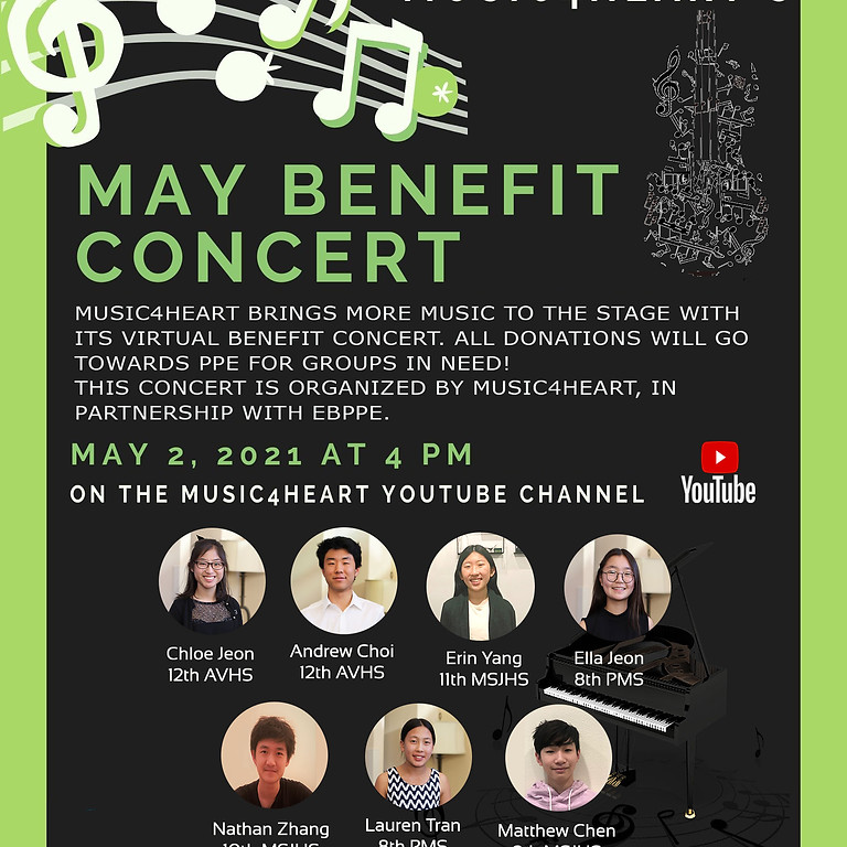 Music4Heart's 2021 May Virtual Concert