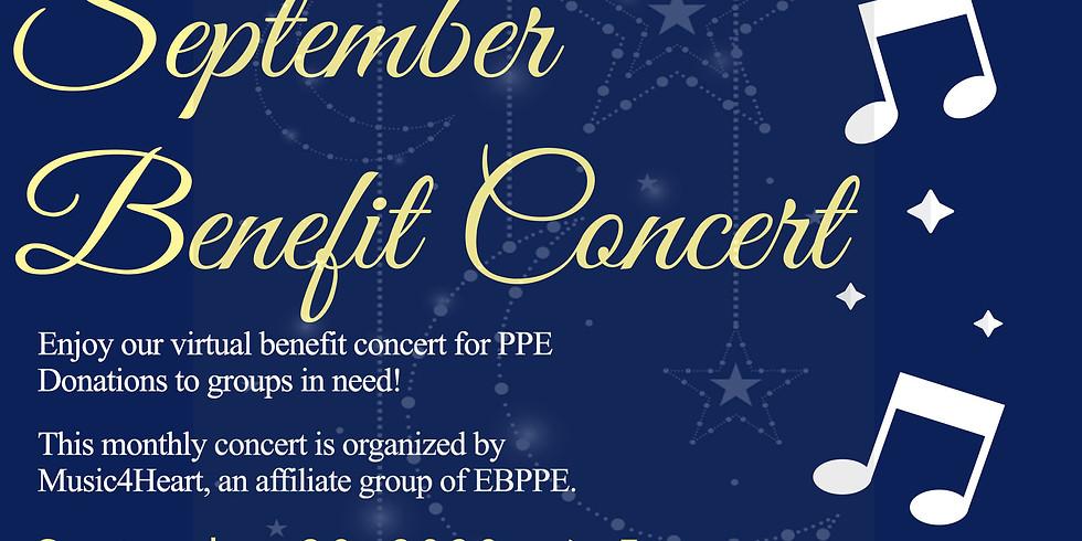 Music4Heart : September Virtual Benefit Volunteer Concert