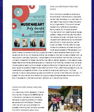 Partner : Music4Heart July Newsletter