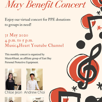 Music4Heart's May Virtual Benefit Concert was released 4pm on 5/31