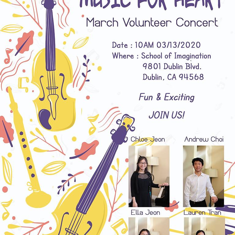 Music4Heart : March Volunteer Concert (Canceled)