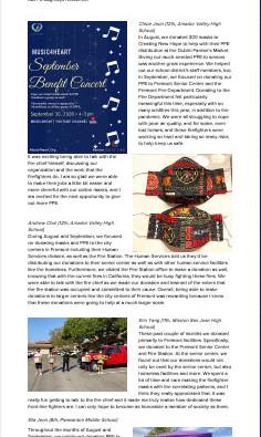 Music4Heart August/September Newsletter Released