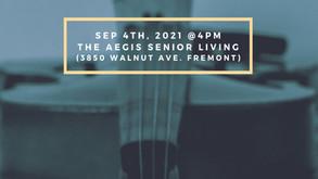 Partner Music4Heart : 2021 September In-person Volunteer Concert  09/04 (Sat)