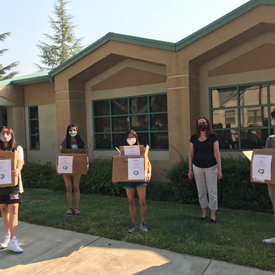 PPE donation to Pleasanton Unified School District on 8/28/2020
